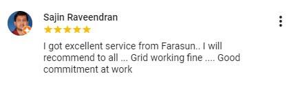 Best solar companies in Calicut Farasun Testimonial 4